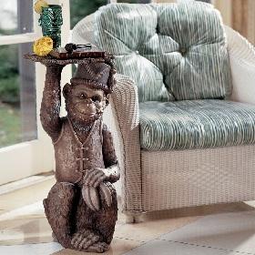 Monkey Butler Pedestal Table